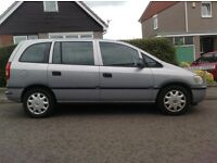 Silver 7 seater Vauxhall Zafira for Sale