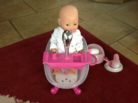 Baby Born Doll with variety of accessories