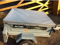 Galvanised steel car trailer for camping or garden