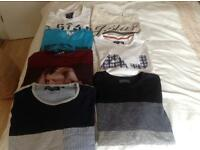7 X mens large t-shirts including G-star raw, Armani and Jack Jones