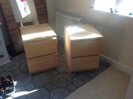 IKEA chest of 2 drawers, Malm, beech, 1 off