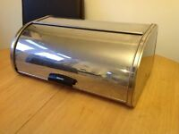 Large Brabantia Brilliant Steel Roll Top Bread Bin