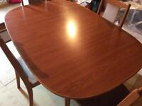 Mahogany Extendable Dining table and matching chairs