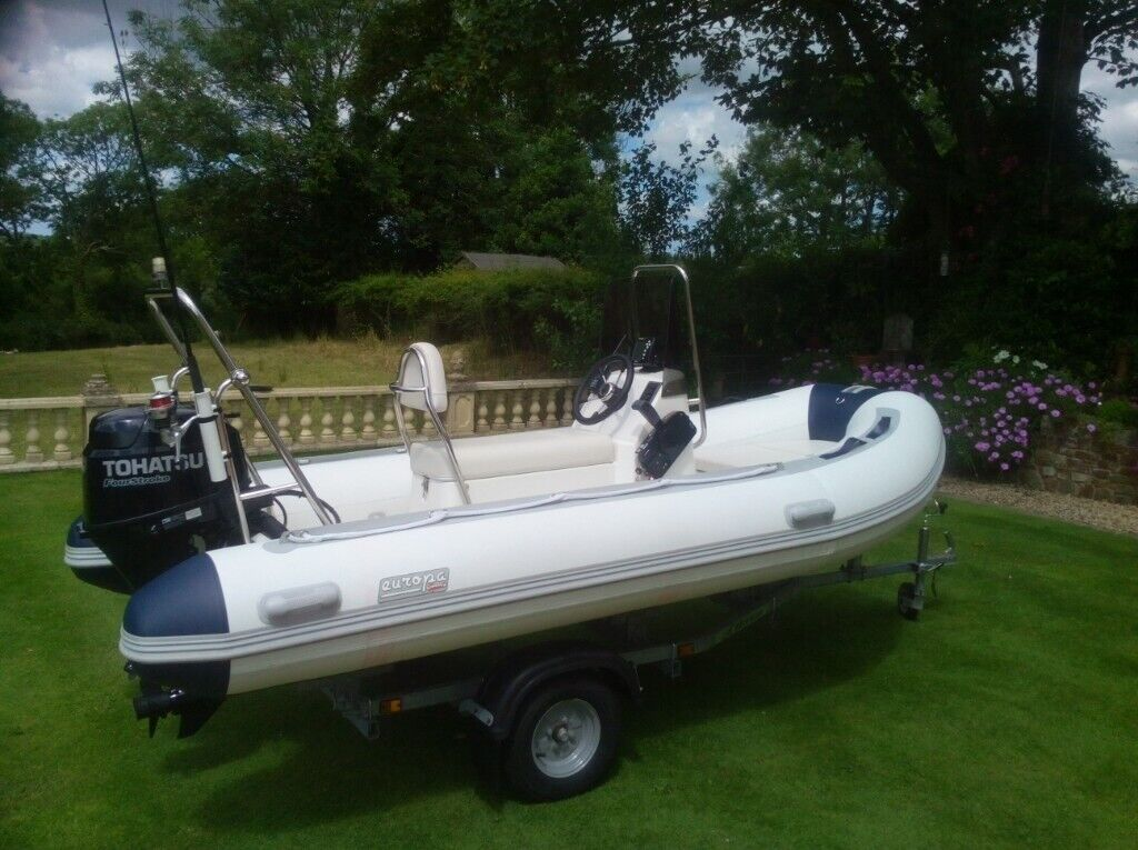 Europa Sport 380 RIB with 25hp Tohatsu Four Stroke EFi Outboard | in Tenby,  Pembrokeshire | Gumtree