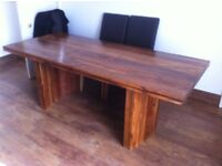 Solid Dining Table & Chairs (ex baker & stonehouse)