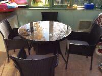 5 piece rattan effect furniture set - as new