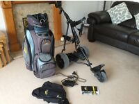 Powakaddy Freeway Golf Trolley + extras