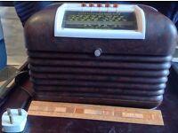 Bakelite Bush DAC10 Valve Radio (working)