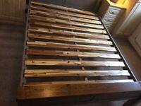 Solid Oak double bedframe, from Oak Furniture Land