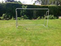 White metal goal posts
