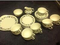 Royal Doulton Burgandy tea set