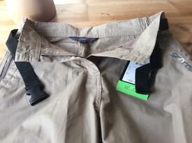 Granite outdoors ladies beige trousers size 8 short BNWT