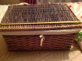 Storage baskets wicker,