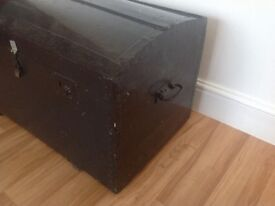 Vintage Trunk Chest Travel Trunk Treasure Chest Steamer Trunk Clean Architectural Salvage Reclaimed