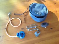 Tristan backpackers gas stove and full cylinder of gas