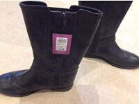 Girls Black boots size 5 John Lewis Brand new with tags