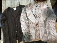 2 light weight cardigans. Per Una and Dorce. Both made with mohair.