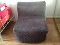 IKEA Single Bed Futon Chair with Premium Mattress and Cover