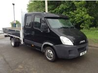 2008 iveco daily 2.3 hpi 35c12 lwb Crew cab pickup with 12 ft alloy body