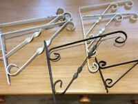 Six hanging basket brackets