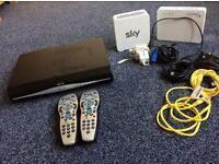 Sky Hd box 500gb 2 remotes + internet bits FREE