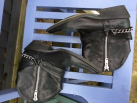 Preloved black leather DUNE cowgirl boots good condition size 7 (40)