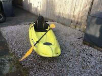 Bic Ouassou kayak yellow