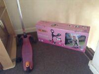 Mini-micro 3in1 pink scooter