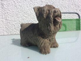 Concrete garden Yorkshire terrier ornament