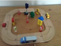 Wooden road layout