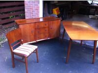 Dinning room sideboard ,table 4 chairs Walnut