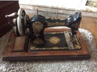 Jones sewing machine with cover