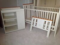 'I Love my Bear' Cot bed and changing table