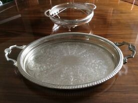 """""""Silver"""" Drinks Tray Ideal for displaying Your Drinks, also available separately a plate/dish stand"""