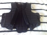 Body protector for horse riding, size 12 year old