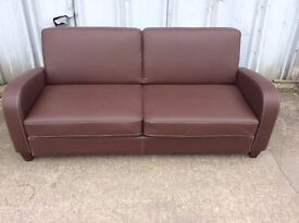 Vivo 3 Seater Faux Leather Sofa -Ex Display £149-inc Free Local Delivery