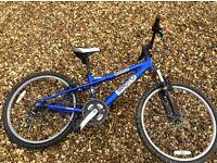 Blue apollo bandit mountain bike
