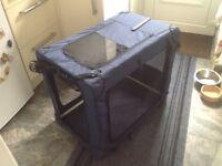 Folding canvas dog cage