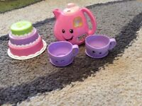 Fisher price singing tea set