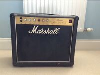 A Marshall combo amplifier.