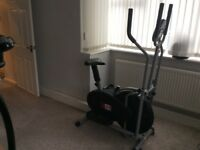 Xs sports pro 2 in 1 elliptical cross trainer exercise bike.Fitness cardio weight loss machine.
