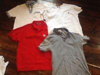 Bundle of men's Designer t shirts Size Medium Penguin/Ralph Lauren/Moncleur