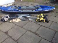 Hudson Inflatable Kayak Paddles Jackets