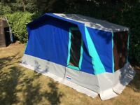 Cabanon elzas frame tent with sun canopy