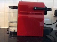 Nespresso coffee machine red brand new