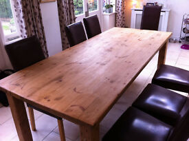 Stunning 7ft family kitchen pine table