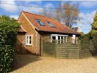 HOLIDAY COTTAGE NORFOLK near SANDRINGHAM,Holt,Hunstanton beach NEXT AVAILABLE 3rd September 1. Week.