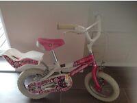 Girls Pink Bike, inc stabalizers