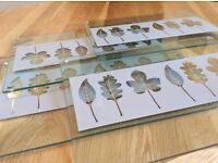 Glass table mats