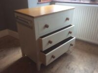 Baby Changer/Dresser chest of drawers with towel rails